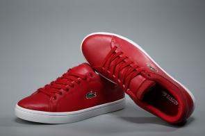 lacoste europa sneaker big red leather